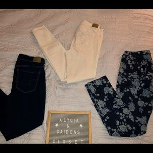 3 Pairs of American Eagle Jeans